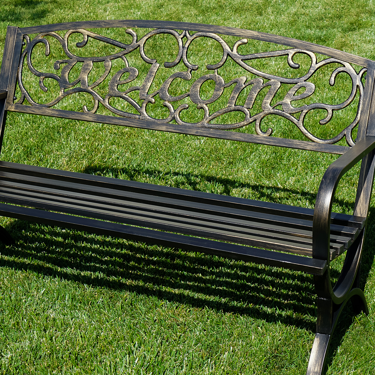 Elegance Welcome Design Outdoor Park Bench Backyard Yard