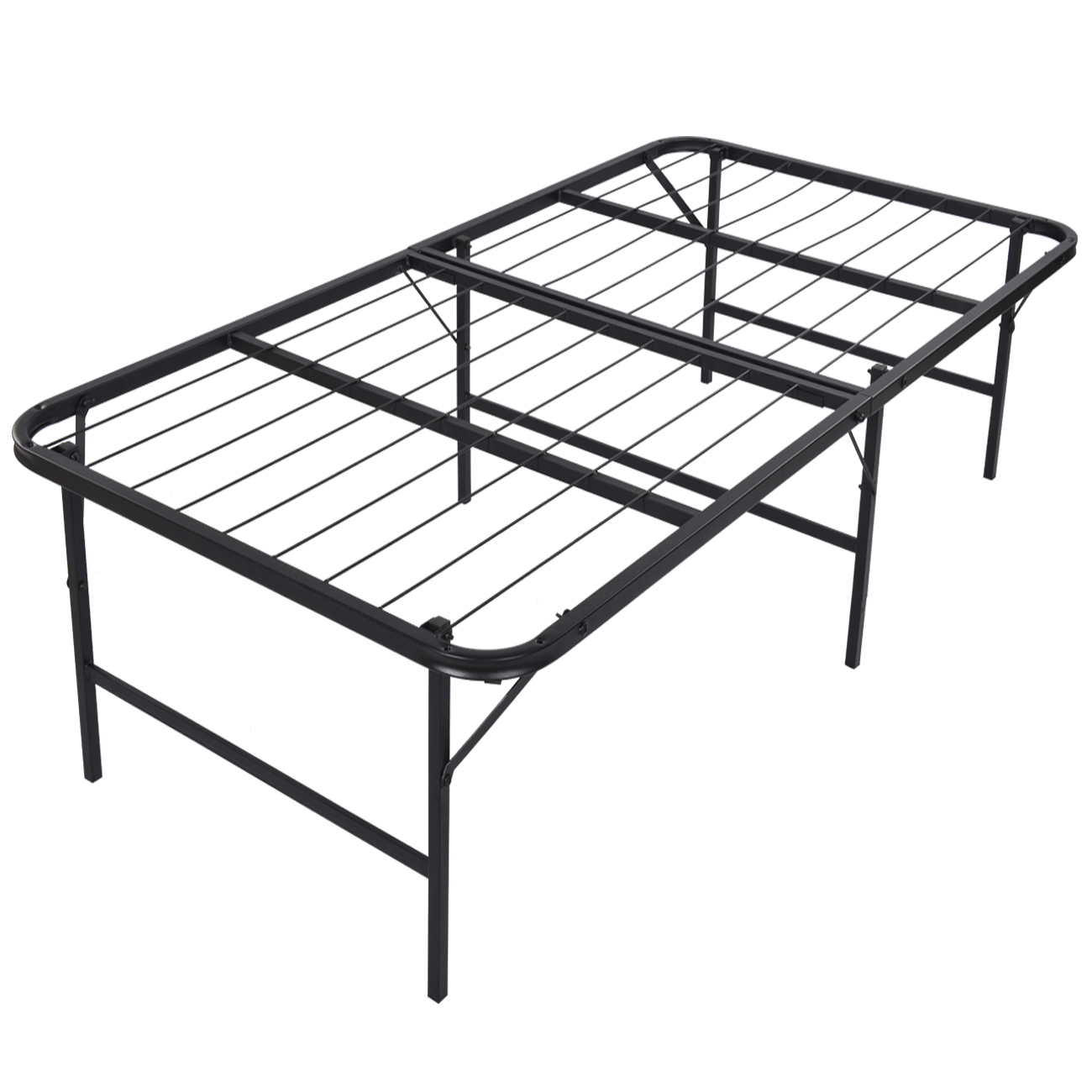 foldable bed frame for mattress 17 height space twin size - Fold Up Bed Frame