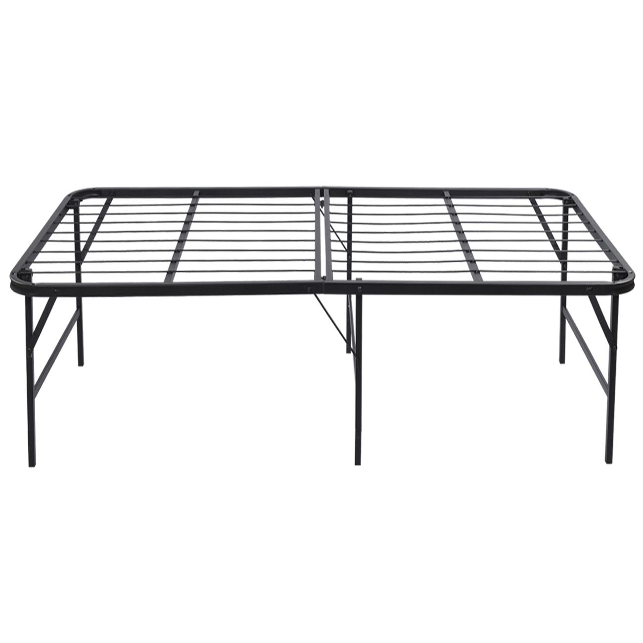 Platform bed frame steel heavy duty size foldable bedroom storage 17 twin xl ebay - Platform bed frame australia ...