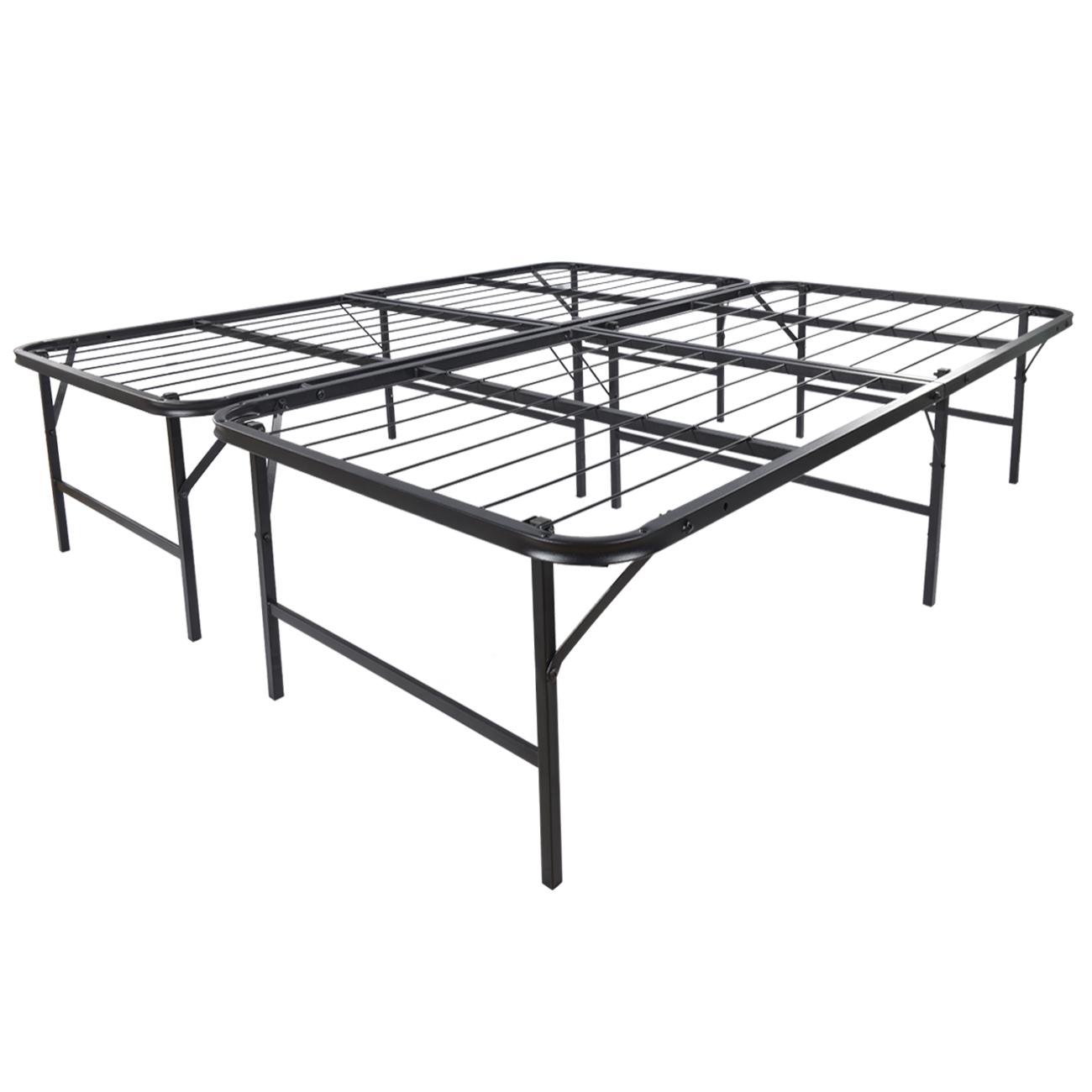 Platform Bed Frame King Mattress Foundation Foldable