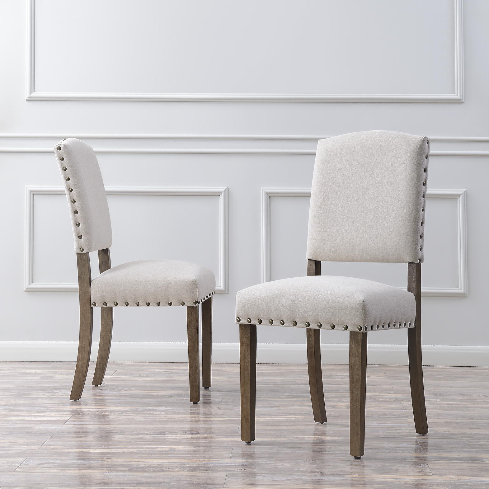 thumbnail 3 - Vintage Dining Chair Set of (2) Contemporary Extra Padded Cushion Seat