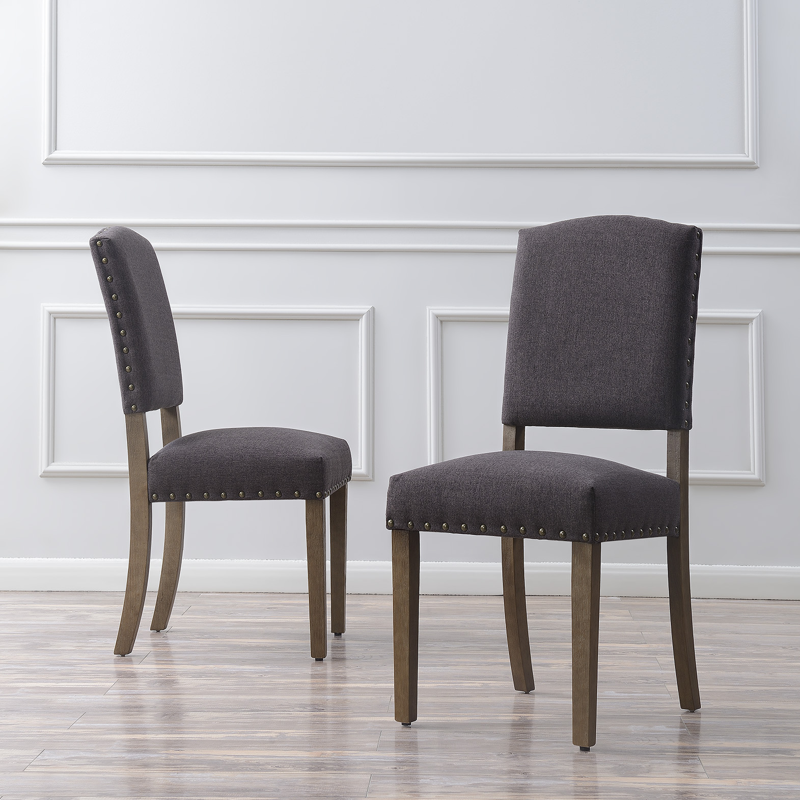 thumbnail 7 - Vintage Dining Chair Set of (2) Contemporary Extra Padded Cushion Seat