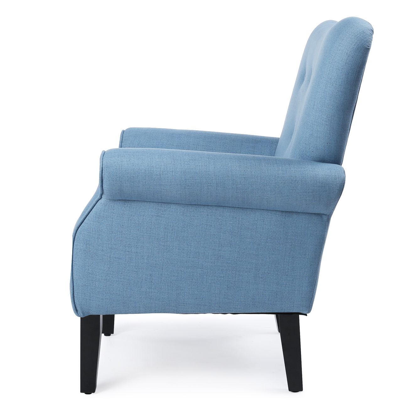 Button Back Armchair Accent High Back Living Room