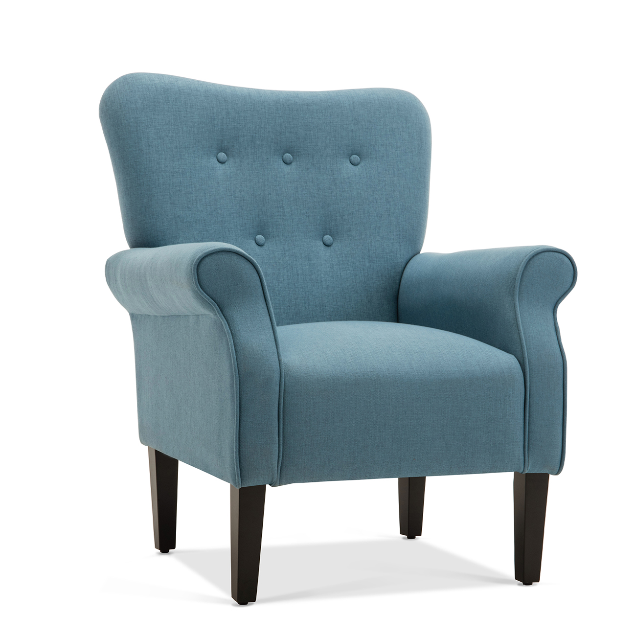 Button Back Armchair Accent High Back Living Room Bedroom ...
