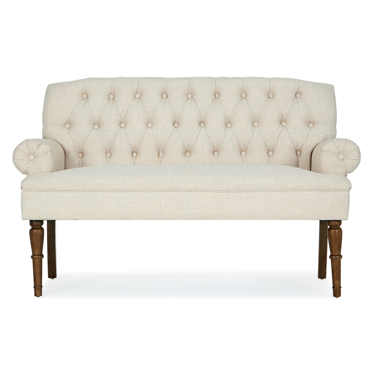 Beau Settee Button Tufted Vintage Sofa Couch Bench W