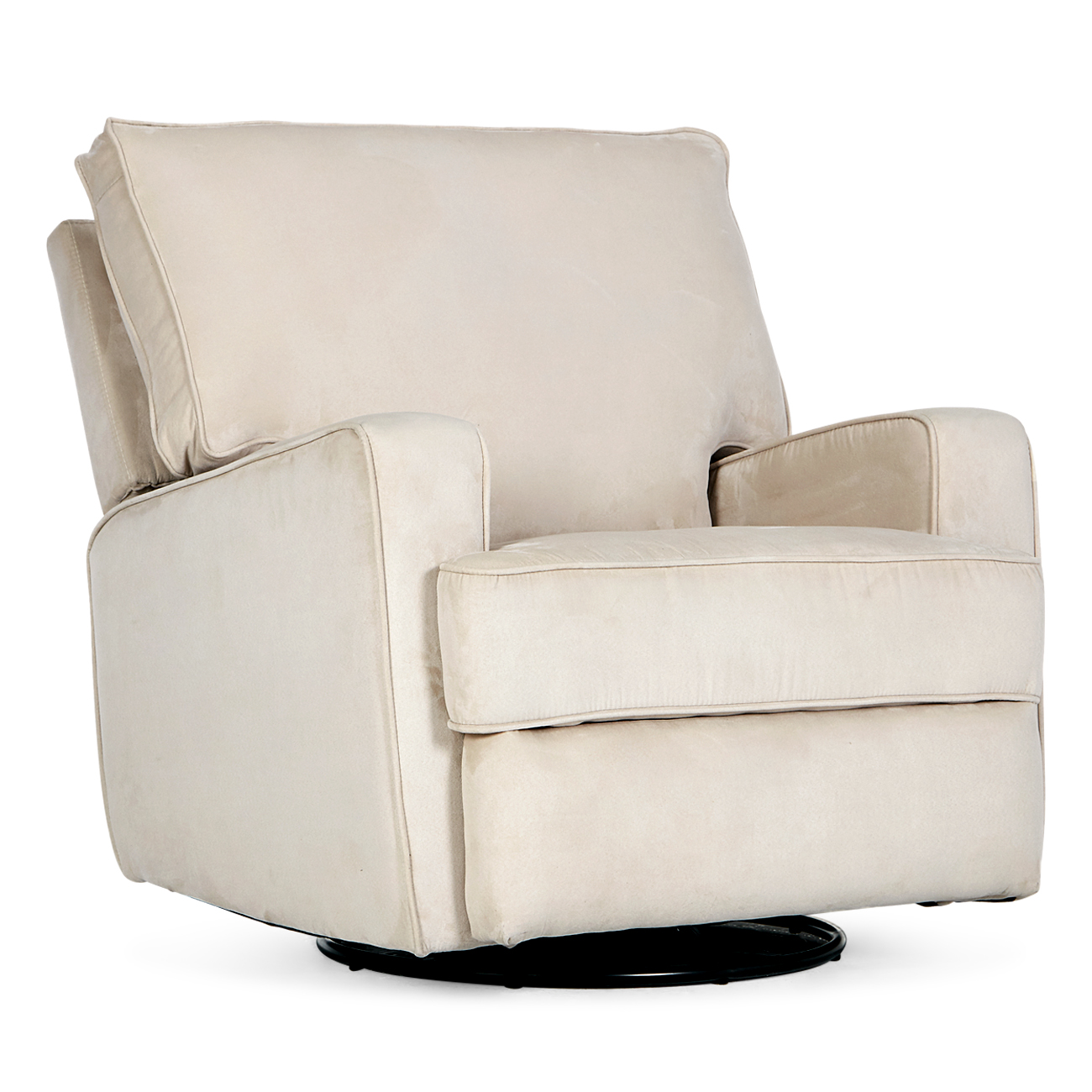 Details About Recliner Sofa Swivel Chair Linen Ergonomic Padded Seat Lounge Living Room Beige
