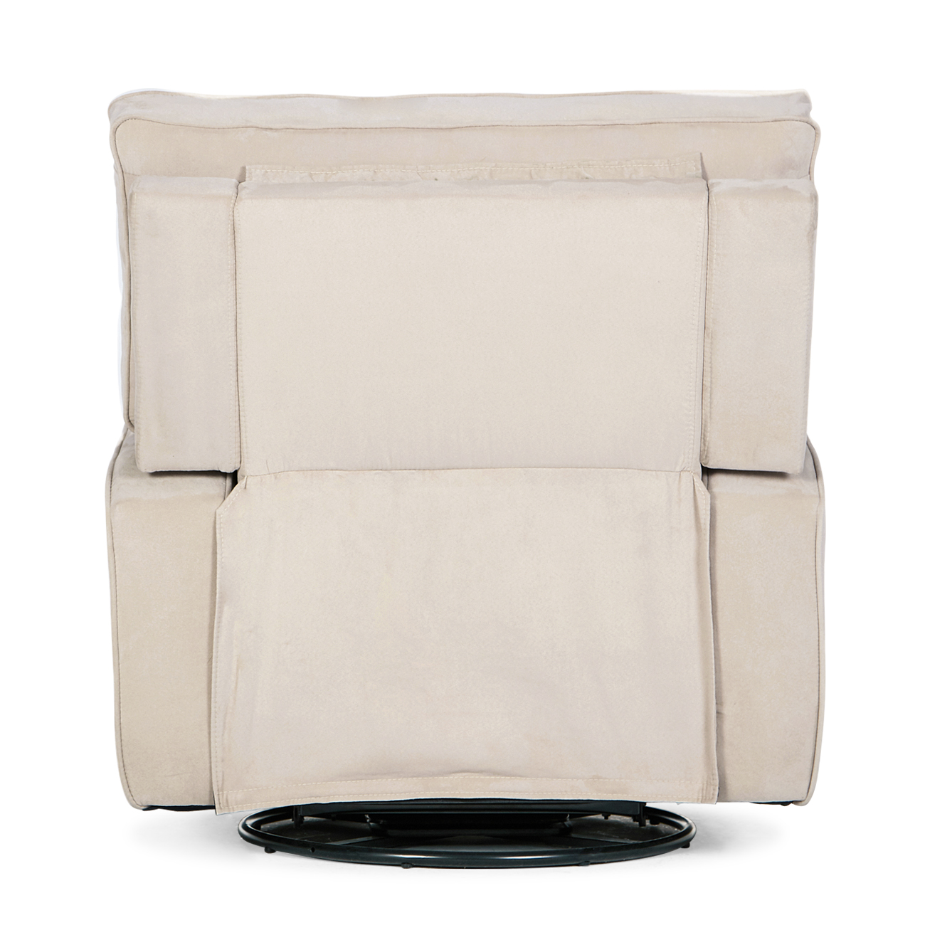 Details About Padded Upholstered Extra Cushion Full Swivel Glider Recliner Living Room