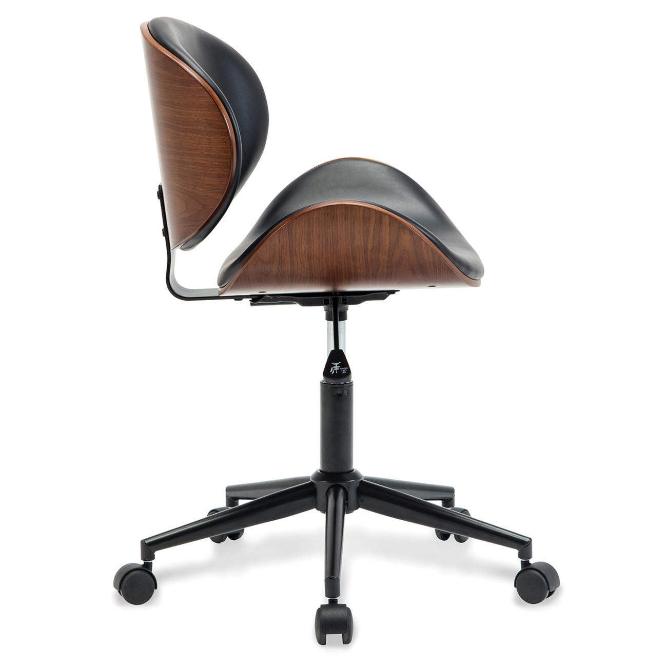 Details About Mid Century Upholstered Metal Base Adjustable Office Desk Swivel Chair