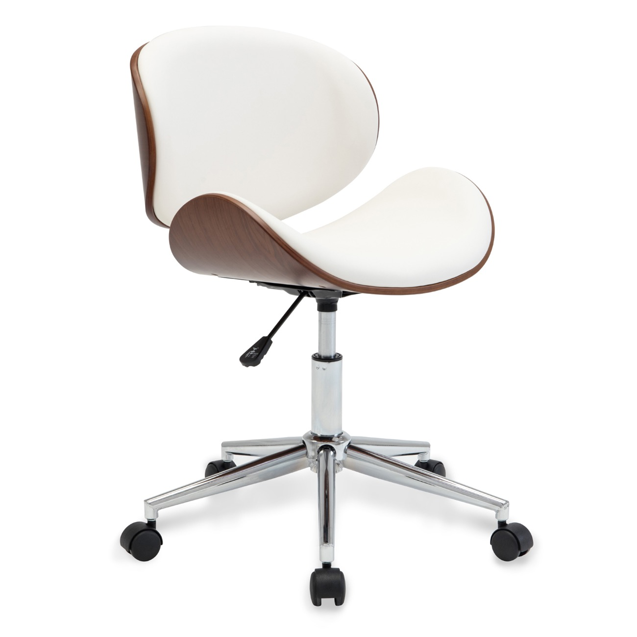 Details About Mid Century Contemporary Adjustable Swivel Office Leather Seat Chair White