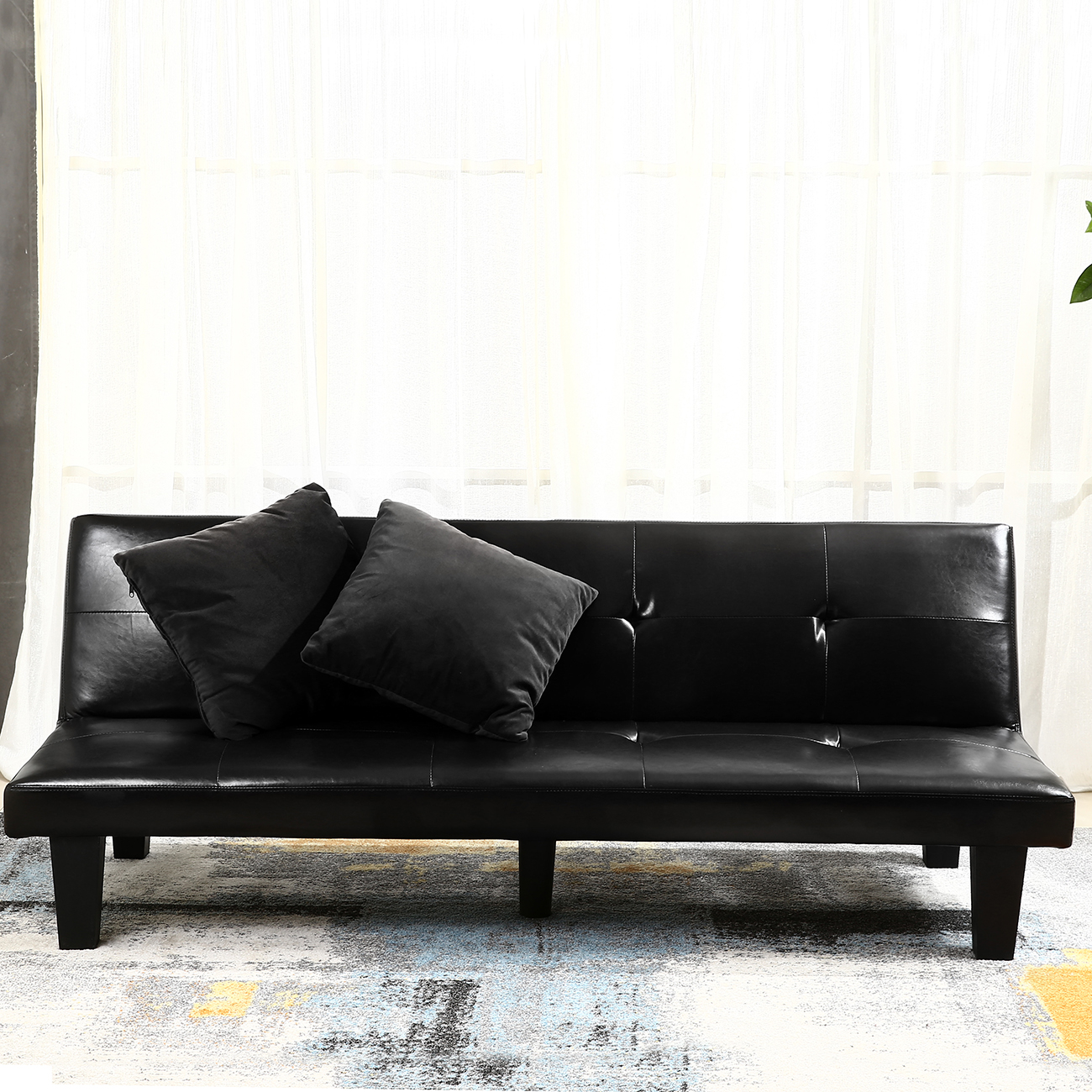 NEW Futon Sofa Bed Convertible Couch Loveseat Dorm