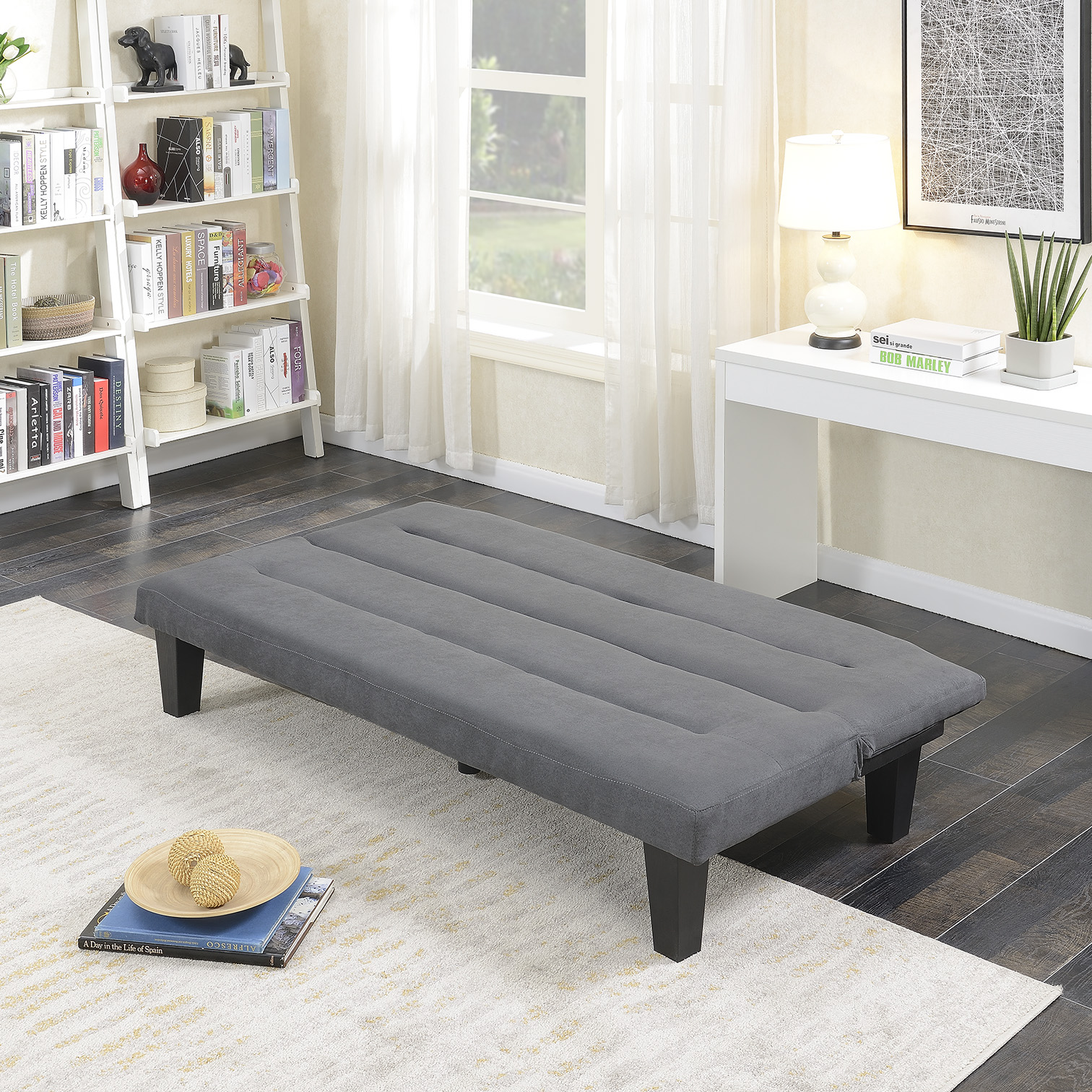 Modern-Style-Sofa-Bed-Futon-Couch-Sleeper-Lounge-Sleep-Dorm-Office-Microfiber