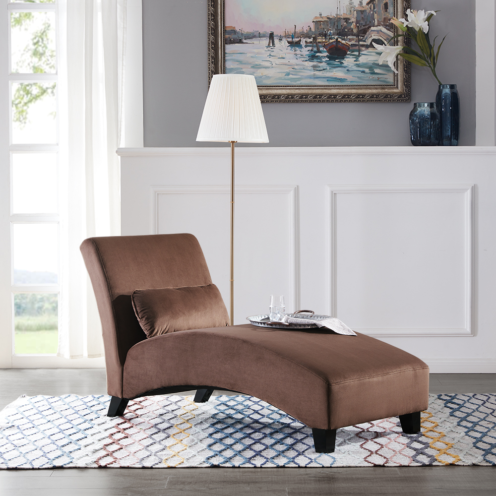 Miraculous Details About Chaise Lounge Living Room Chair Modern Sofa Couch Legs Brown Gray And Beige Gmtry Best Dining Table And Chair Ideas Images Gmtryco