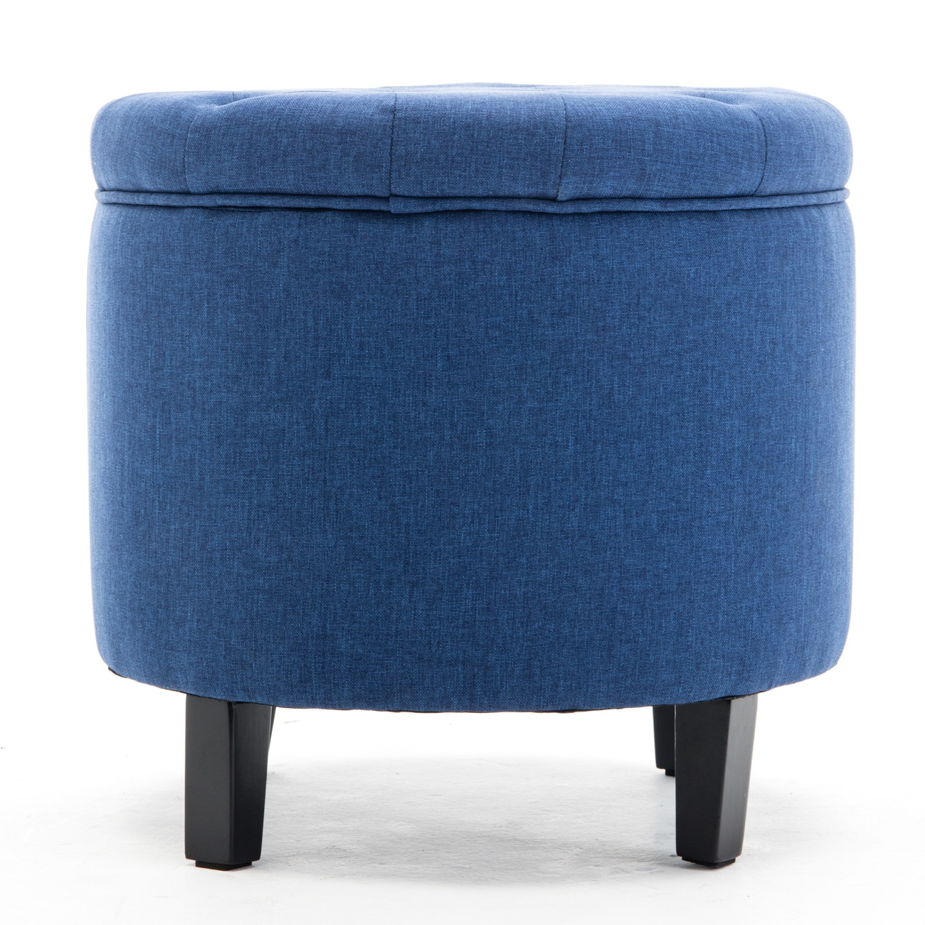 Large Round Tufted Ottoman Footstool Seat Living Room
