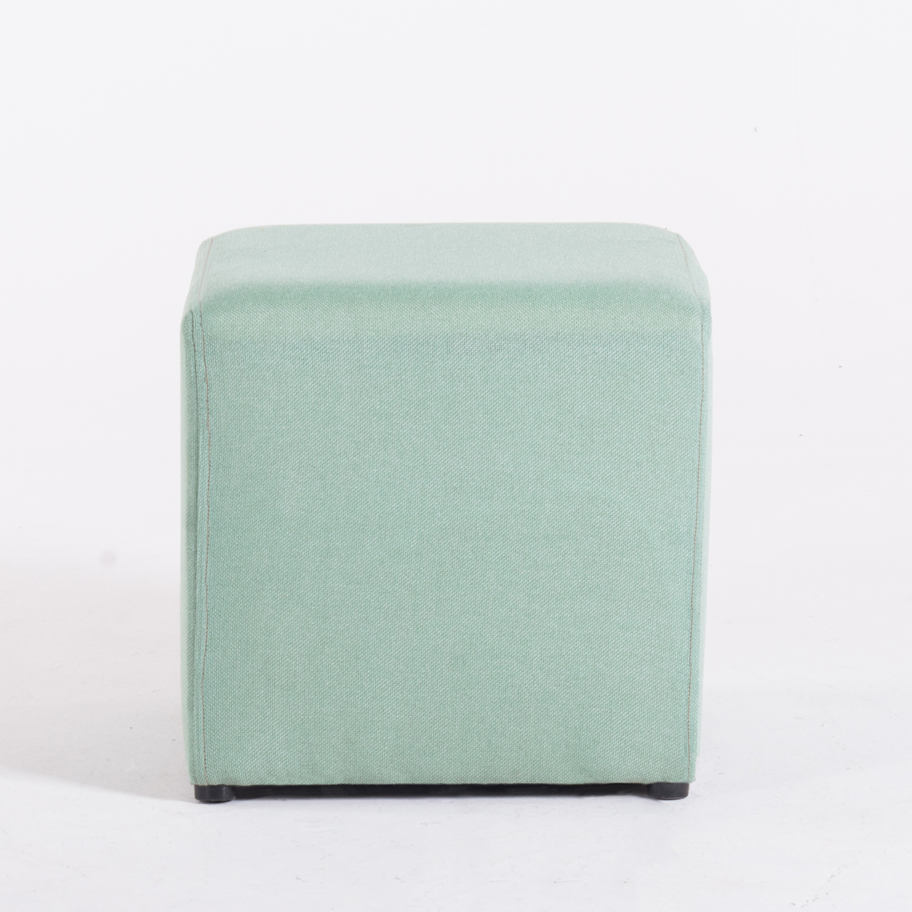 modern cube ottoman square footrest stool seating coffee fabric  - modern cube ottoman square footrest stool seating coffee fabric accentgreen