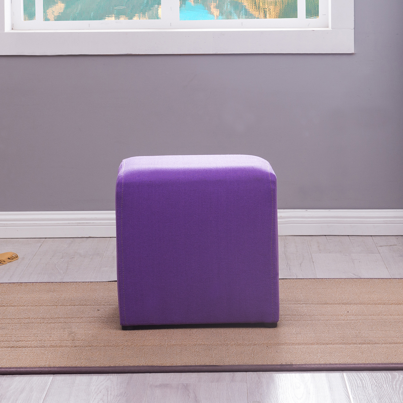 lightweight itm seating rest purple frame hg pu ottoman square cube green foot stool