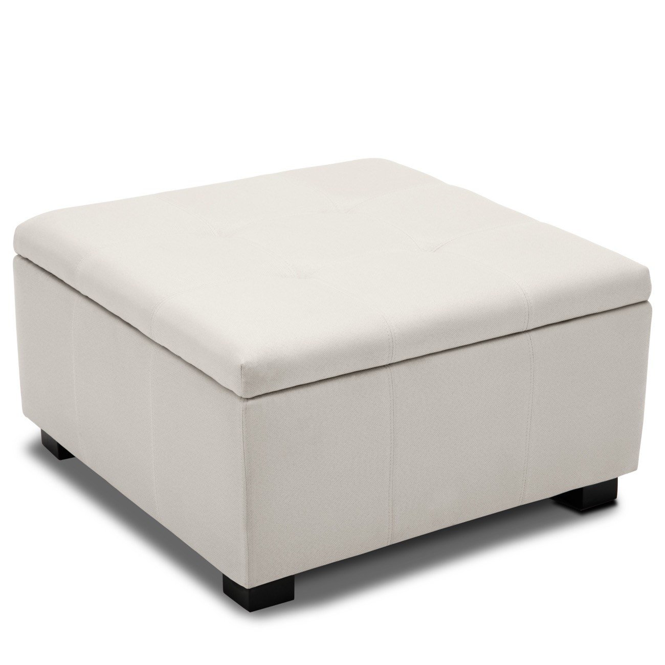 Sensational Details About Storage Ottoman Tufted Upholstered Foot Bench Living Room Bedroom White Andrewgaddart Wooden Chair Designs For Living Room Andrewgaddartcom