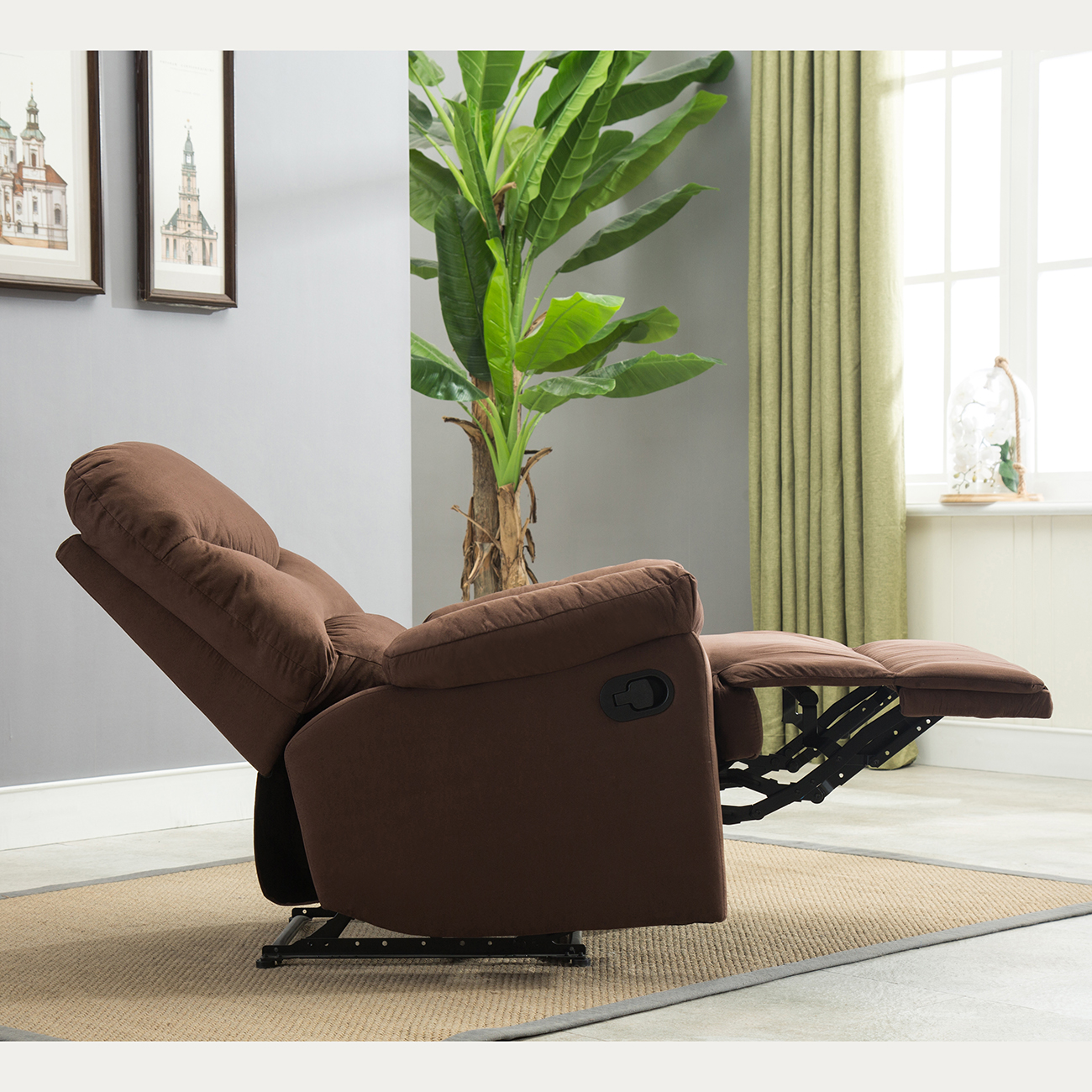 Microfiber Living Room Chairs Recliner Chair Sofa Living Room Furniture Microfiber Reclining
