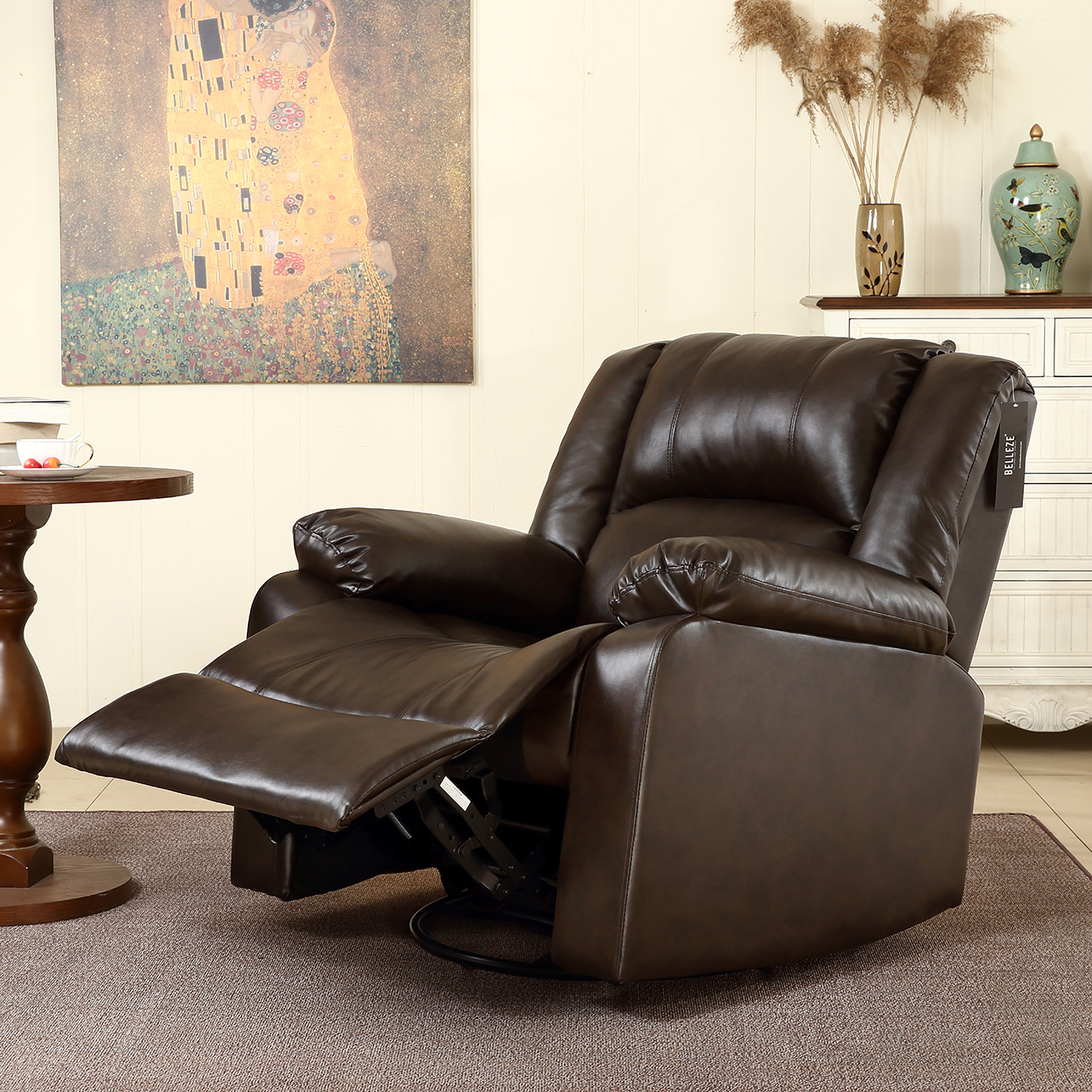 leather for chair seats new recliner and rocking swivel chair leather seat living 16632 | 014 hg 31921 bro 5