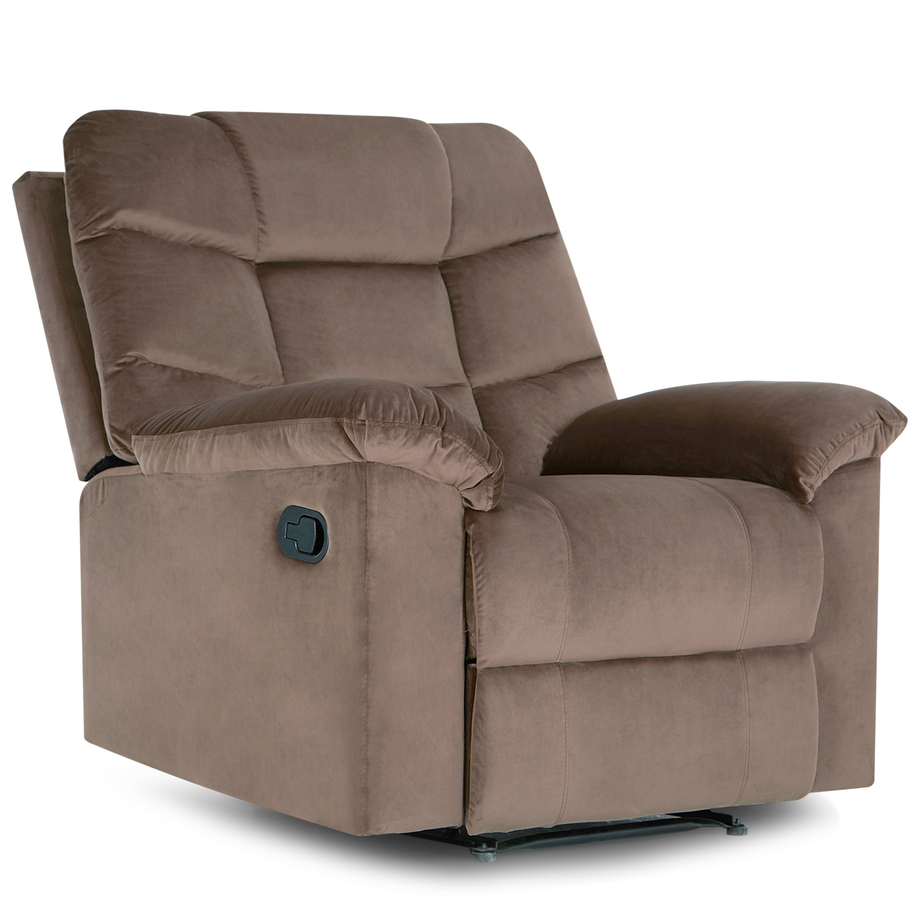 Microfiber recliner chair brown