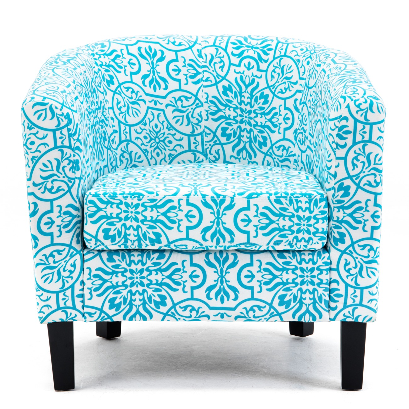 Sensational Details About Accent Barrel Chair W Ottoman Round Arms Curved Back French Print Script Caraccident5 Cool Chair Designs And Ideas Caraccident5Info