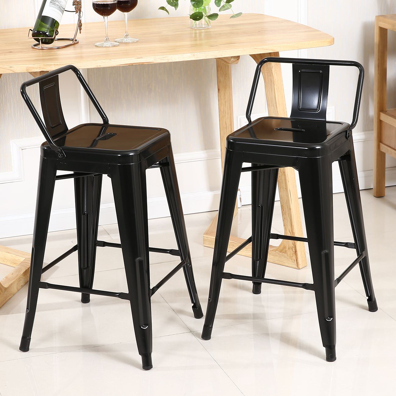 Low Back 24quot inch Height Chair Stool Counter Height Stools  : 014 hg 52424 bk 12 from www.ebay.com size 1300 x 1300 jpeg 954kB