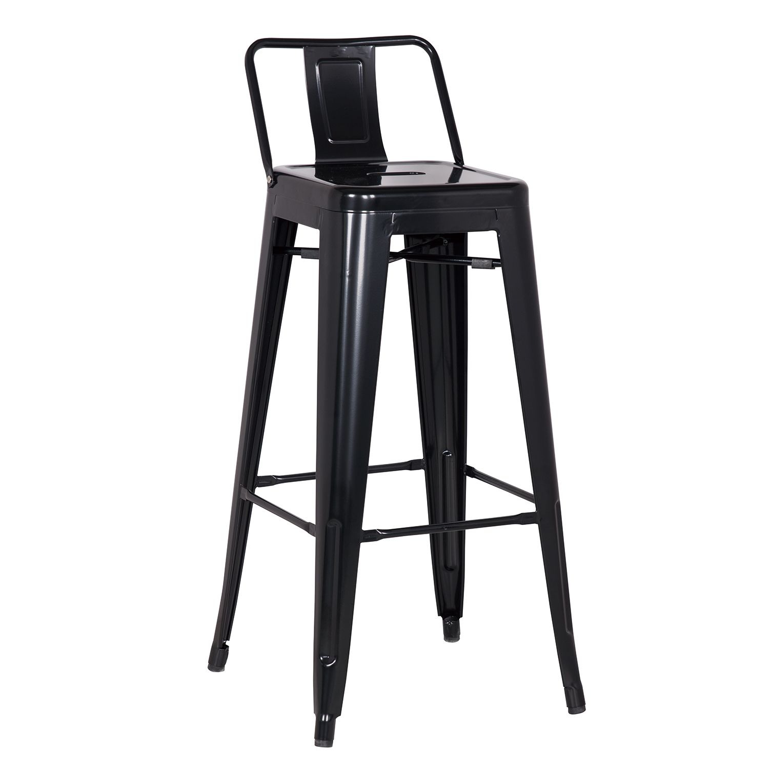 Low Back 24 Inch Height Chair Stool Counter Height Stools Black