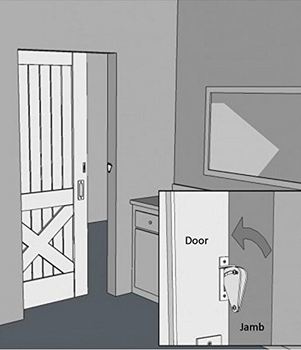 Sliding Barn Door Bathroom Privacy: Teardrop Privacy Lock For Sliding Door Latch Kit Barn
