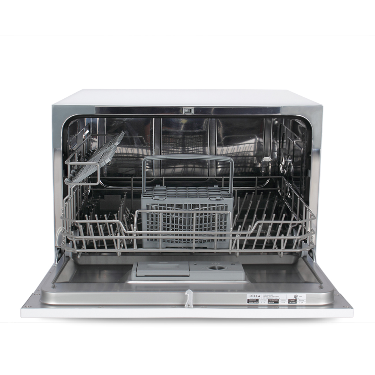 Countertop 6 Place Settings Stainless Steel Dishwasher For