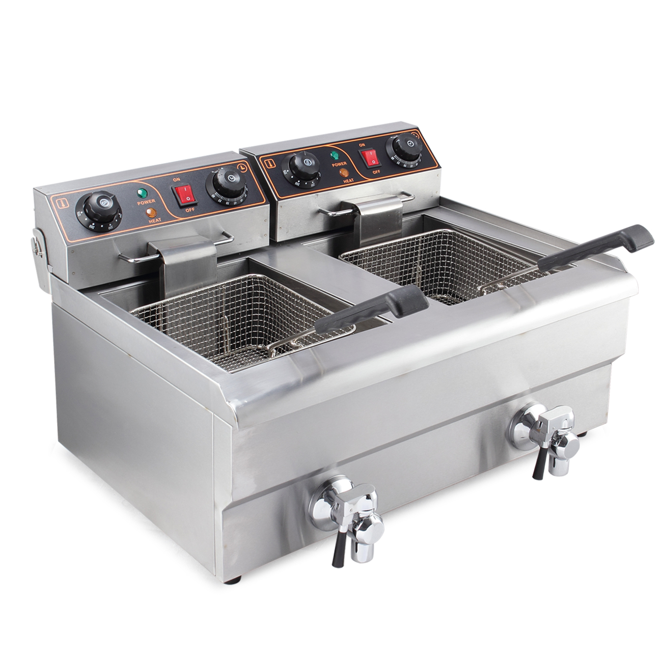 20 Liter Dual Electric 2500W Commercial Kitchen Countertop Deep ...
