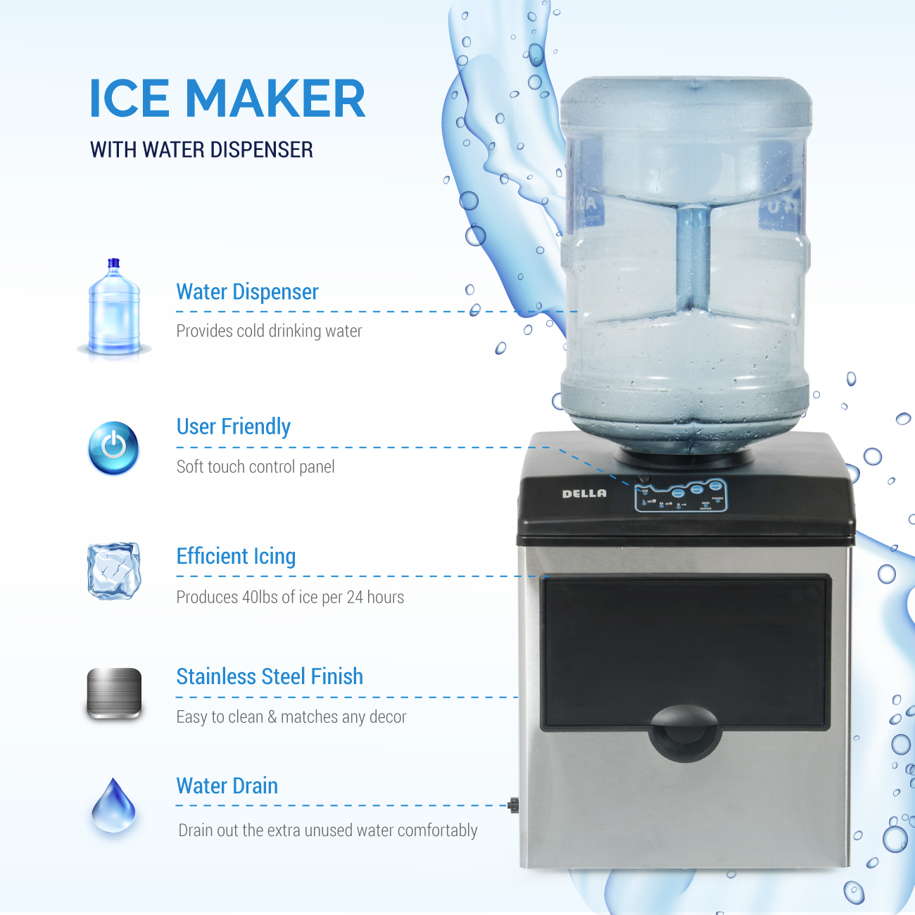and lb nf series cooled iw ice storage st dispenser countertops countertop follett water air maker