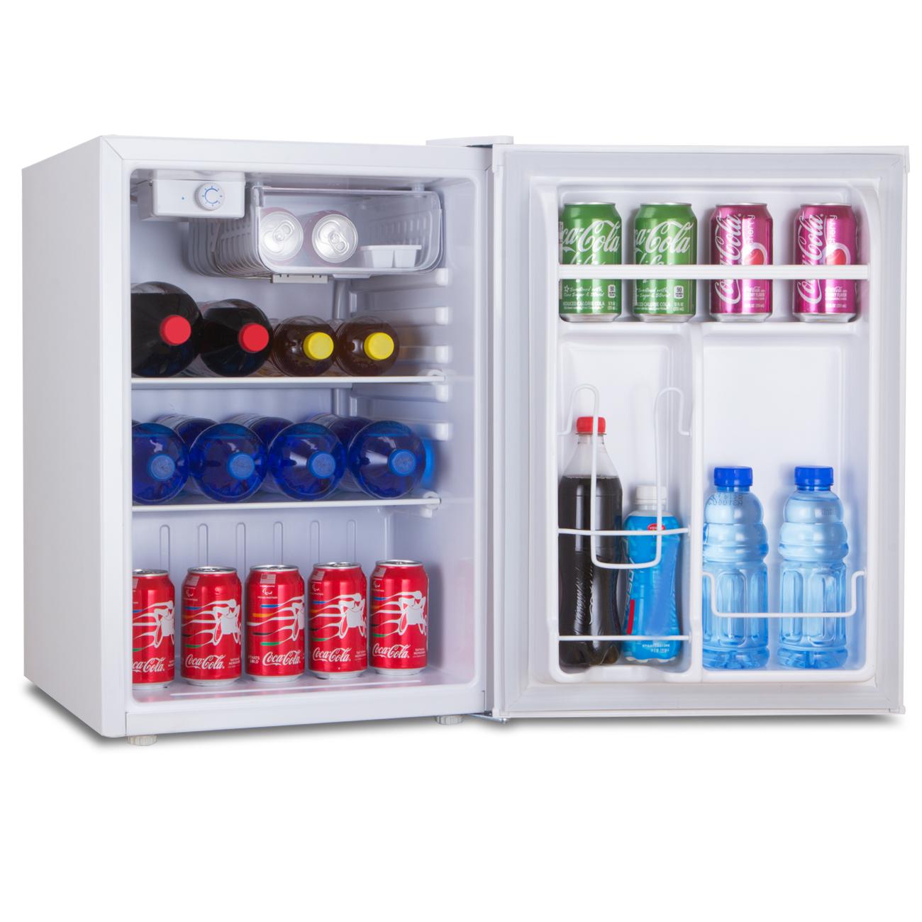 white 2 6 cu ft compact refrigerator mini freezer. Black Bedroom Furniture Sets. Home Design Ideas