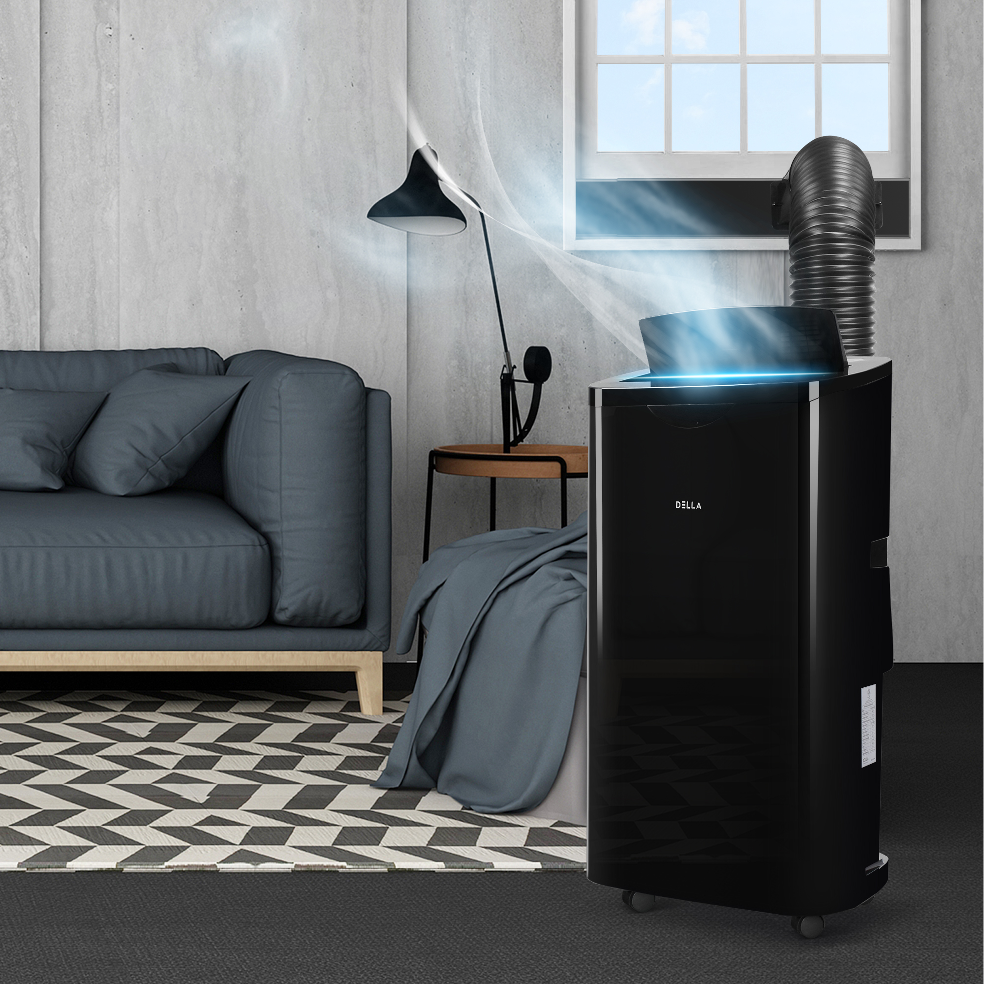 Details about DELLA 14000 BTU Portable A/C Air Conditioner + 1050W Heater +  Dehumidifier + Fan