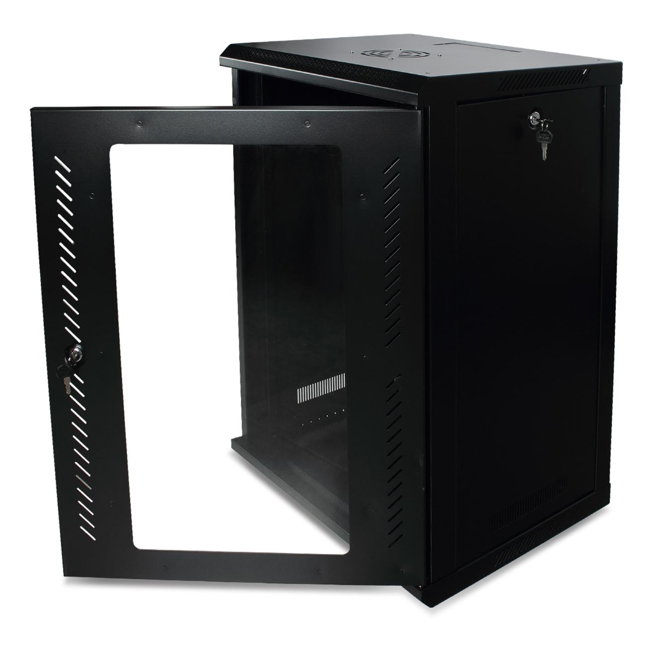 15u Glass Door Network Data Wall Mount Server Cabinet Rack