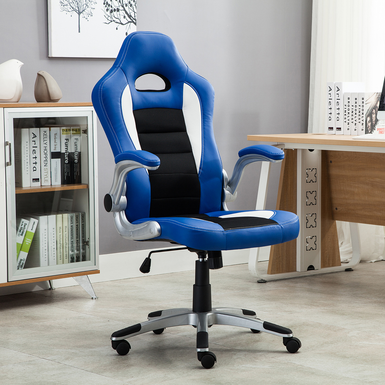 Office-Racing-Chair-Bucket-Seat-High-Back-Ergonomic- & Office Racing Chair Bucket Seat High Back Ergonomic Gaming Computer ...