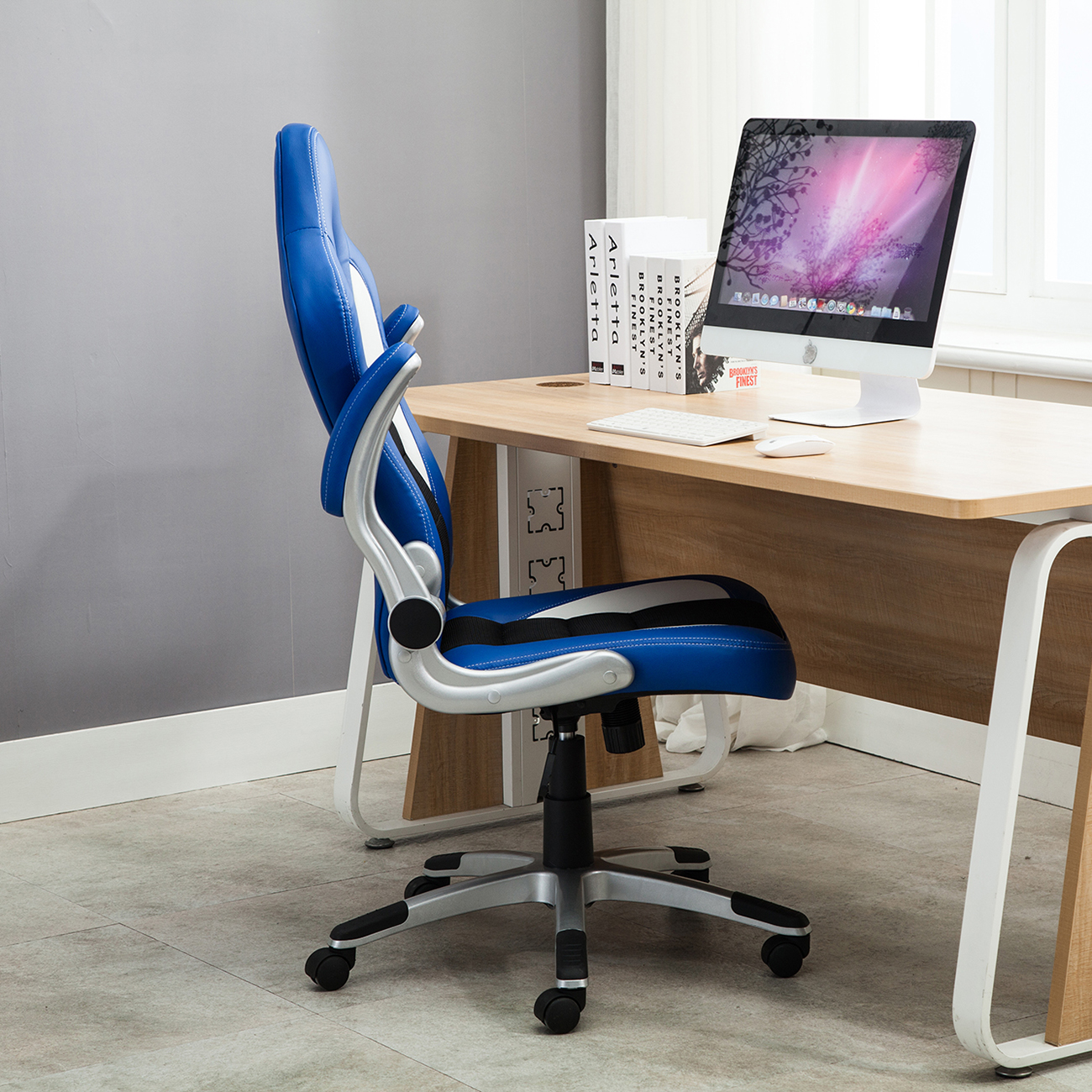 Ergonomic Computer Desk Office Chair Ergonomic Computer Pu Leather Desk Race Car Bucket