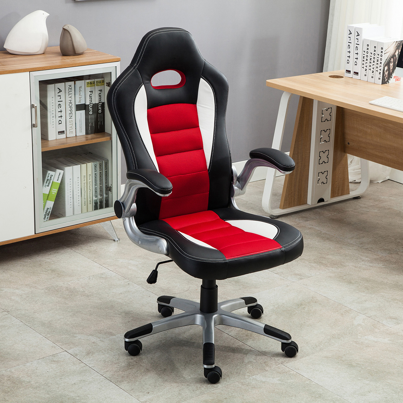 Fine Details About Office Racing Chair Bucket Seat High Back Ergonomic Gaming Computer Flip Armrest Download Free Architecture Designs Salvmadebymaigaardcom
