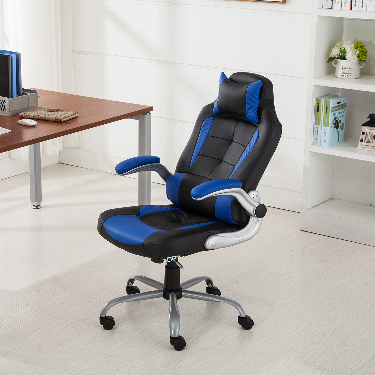 Details About Executive Racing Style High Back Reclining Chair Gaming Chairs Office Computer
