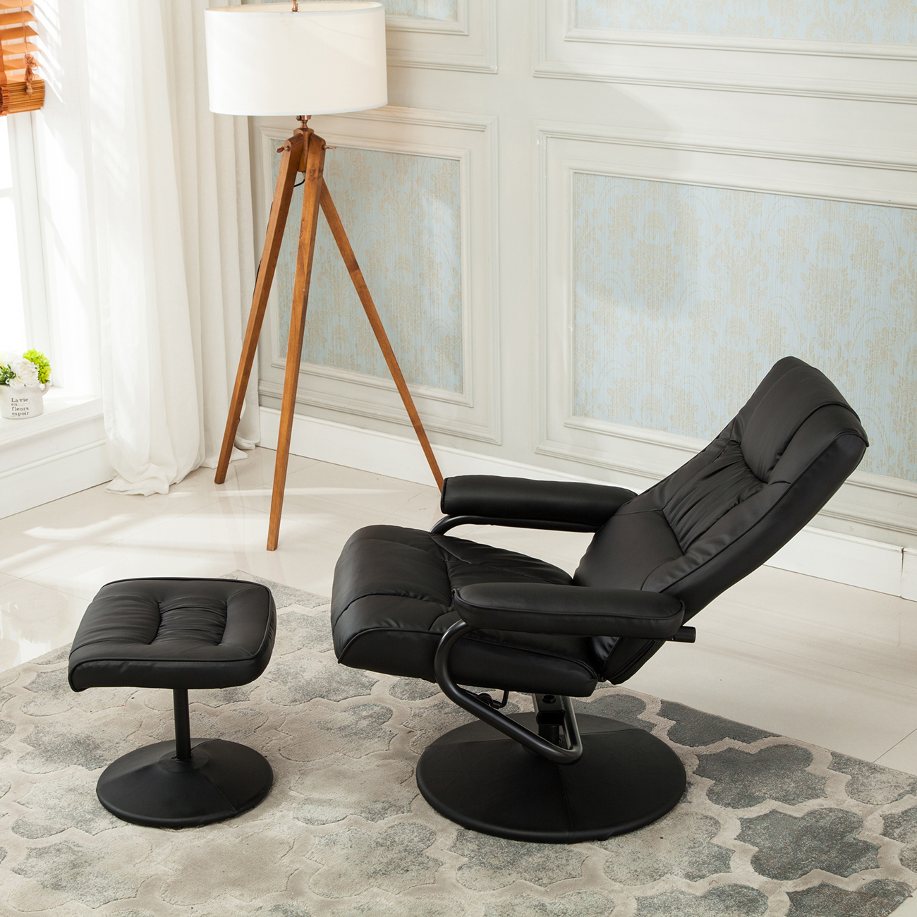 100 chair and ottoman set la z boy julius leather chair and