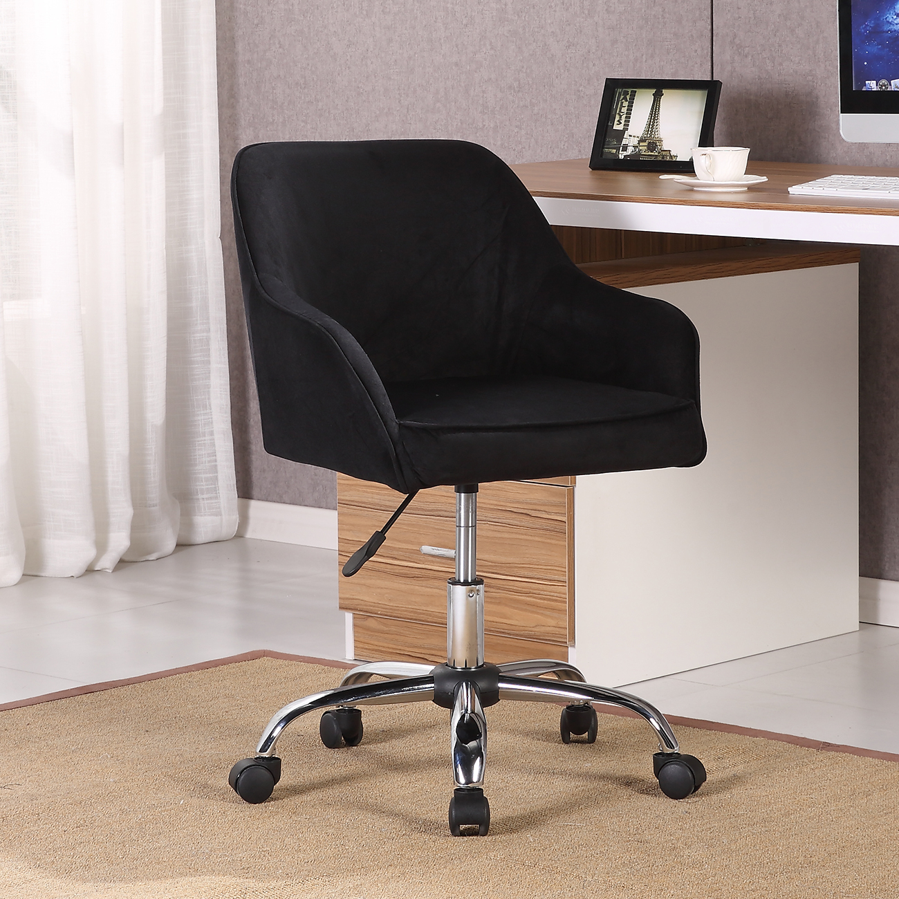 Modern Office Chair Task Desk Adjustable Swivel Height