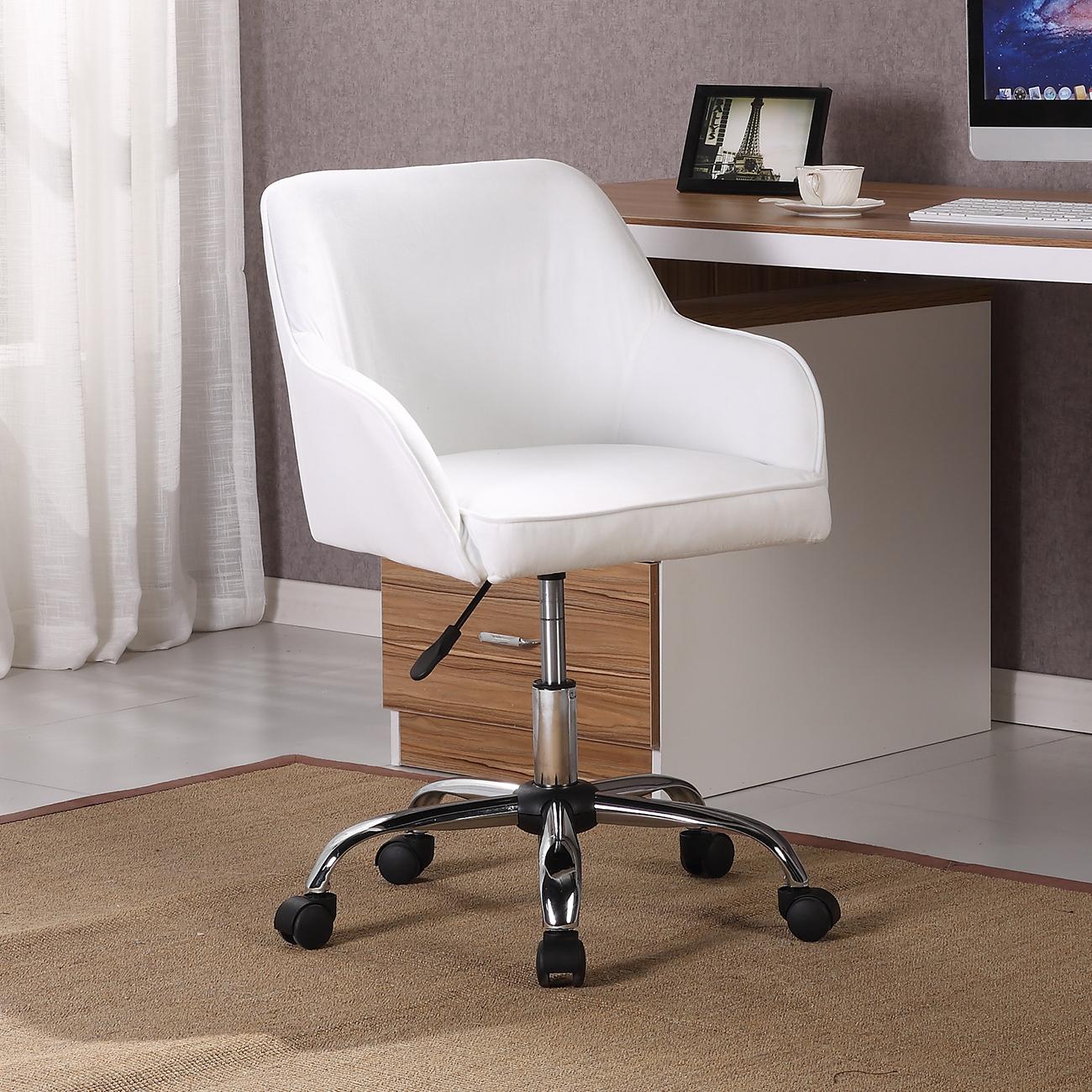 Modern Office Chair Task Desk Adjustable Swivel Height W ...