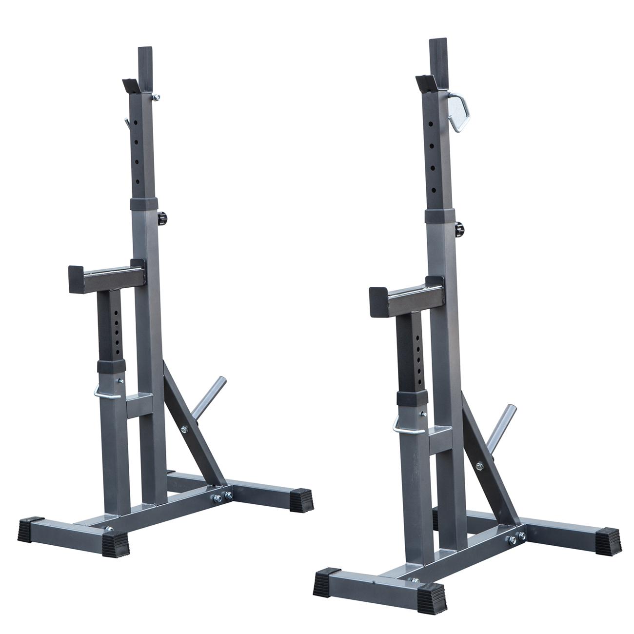 2pcs Adjustable Rack Standard Steel Squat Stands Barbell