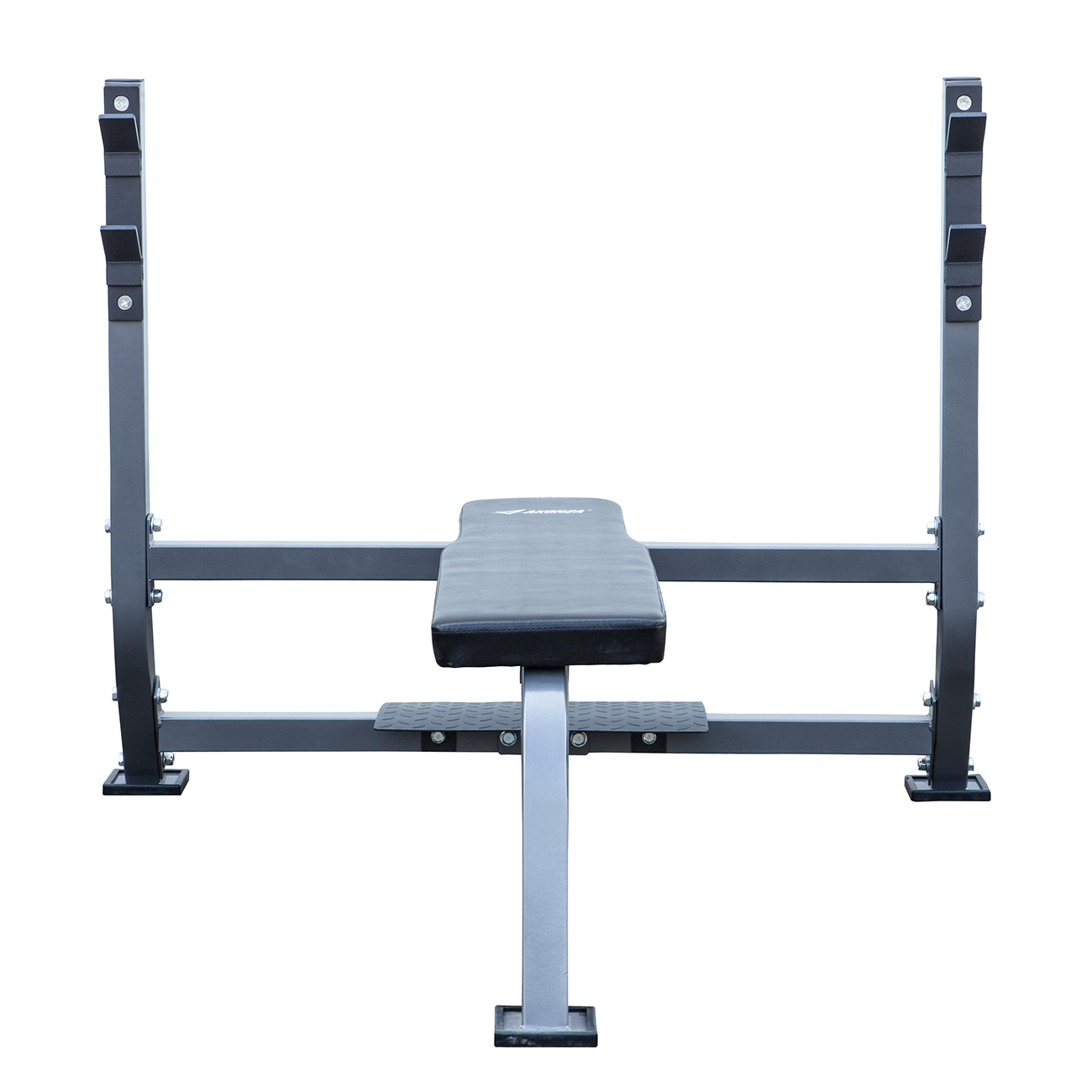 Olympic Bench W Spotter Stand Fitness Exercise Weight Flat Bench Fitness Set 846183163350 Ebay