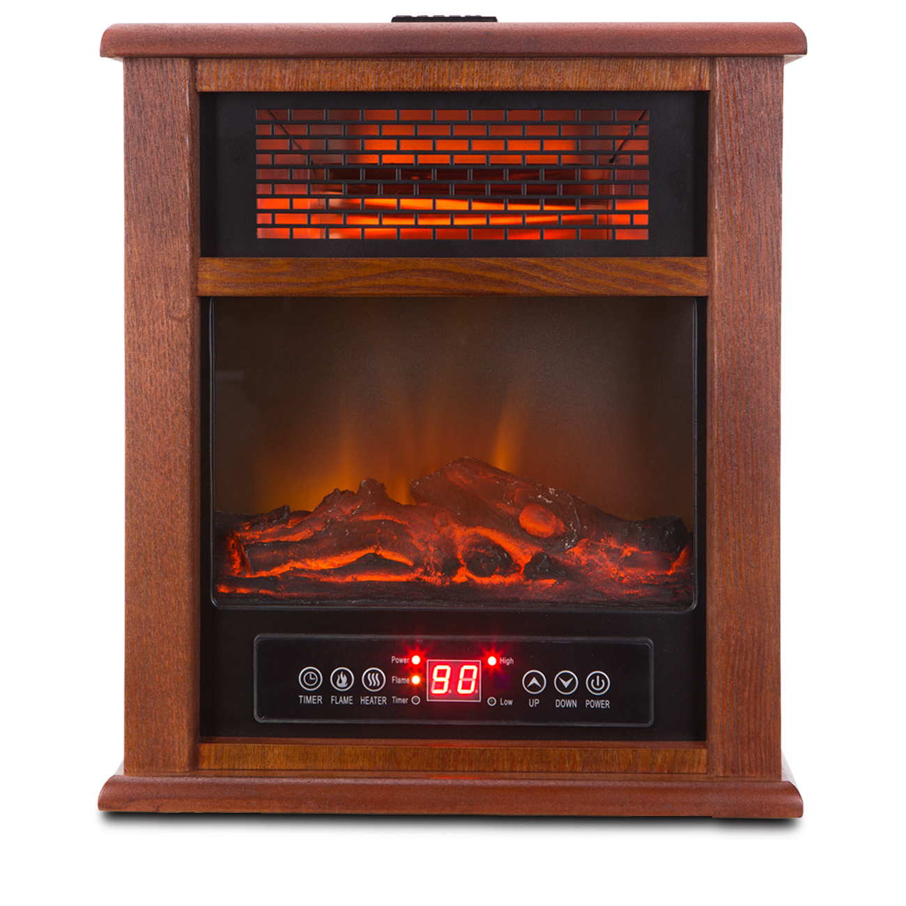 2 in 1 portable infrared zone electric fireplace quartz. Black Bedroom Furniture Sets. Home Design Ideas