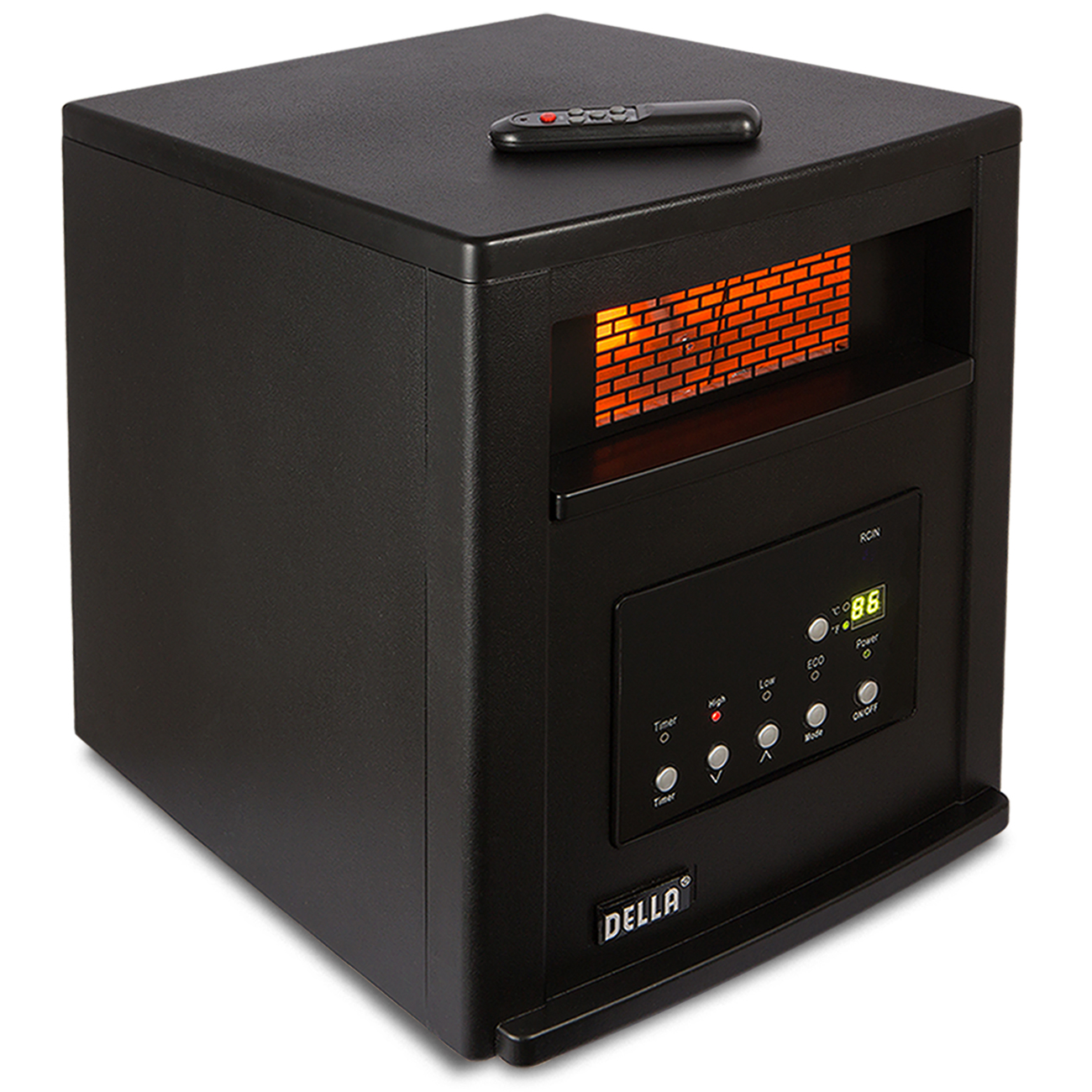 Infrared quartz portable electric space heater with remote control 1500 watts ebay - Small portable space heater paint ...