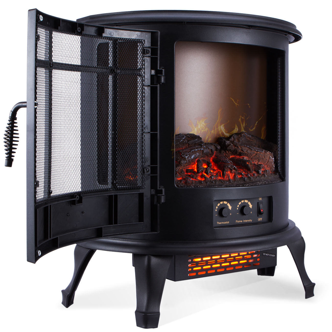 Are Vintage Electric Stoves Safe ~ W free standing vintage electric fireplace firebox
