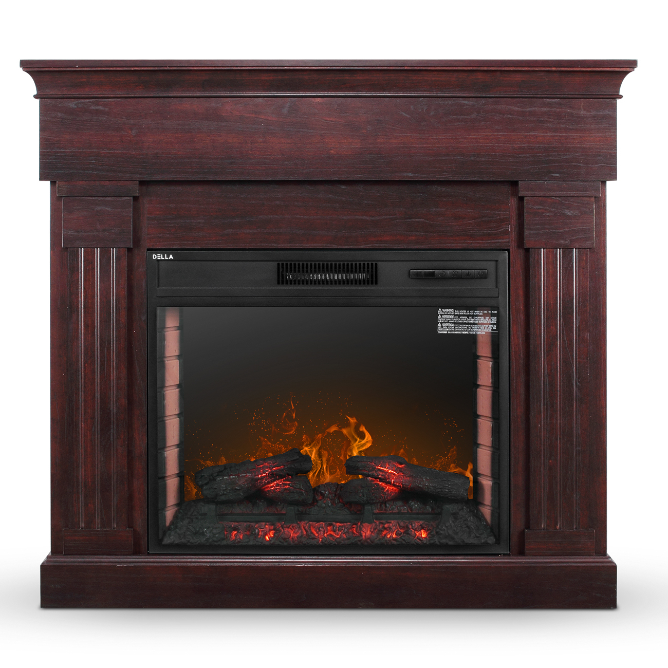 28 1400w Embedded Fireplace Electric Insert Heater Mantel Flame