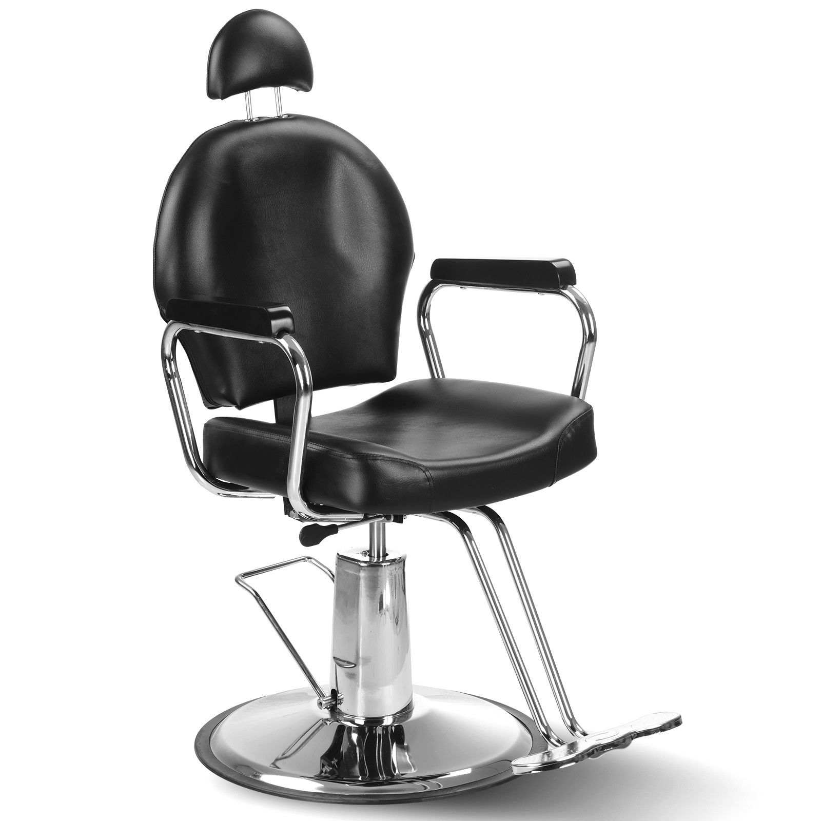 hydraulic barber chair all purpose salon styling swivel grooming black
