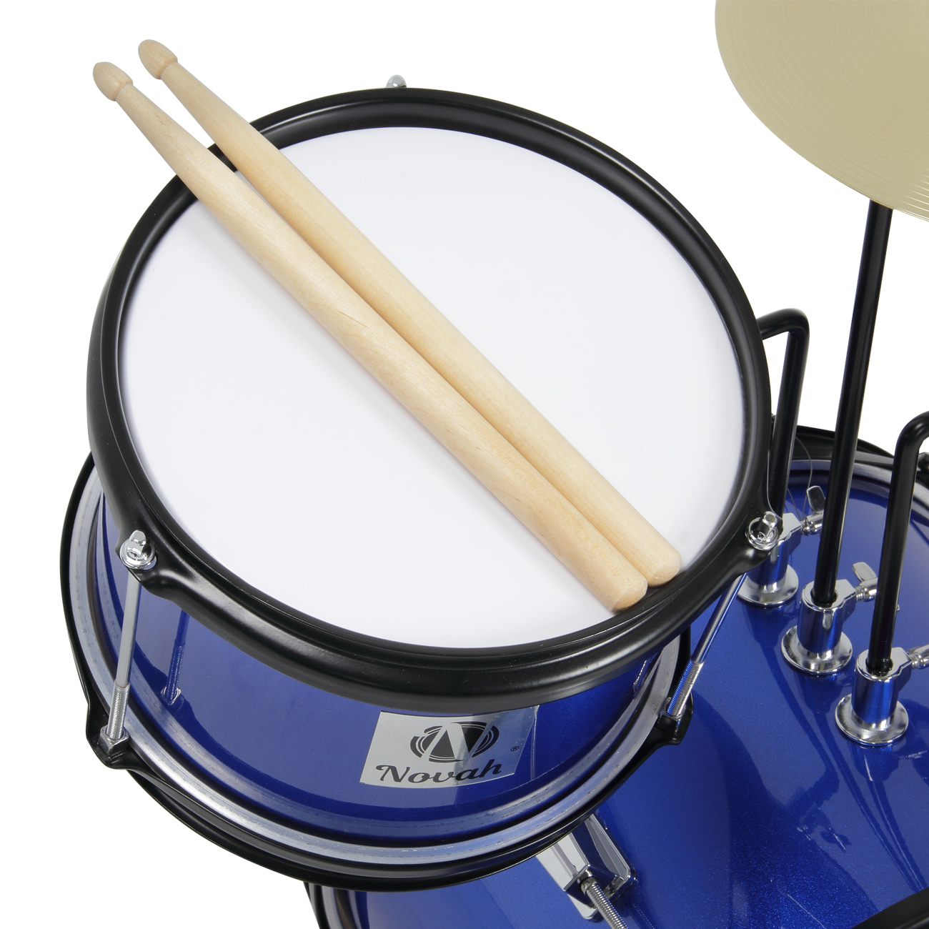 drum set 3 piece junior complete child kids kit with stool sticks seat blue ebay. Black Bedroom Furniture Sets. Home Design Ideas