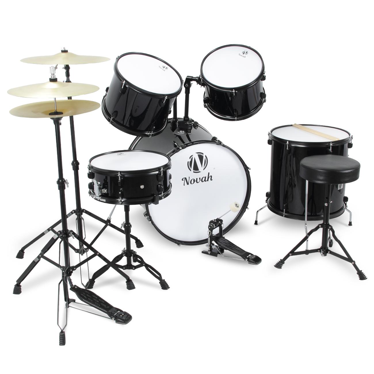 5pc drum set adult complete kit cymbals full size starter w drum set and stand ebay. Black Bedroom Furniture Sets. Home Design Ideas