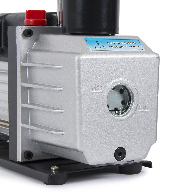 5CFM VACUUM PUMP & Manifold Gauge R404A R410A R22 HVAC Refrigerant w/ Carry  Bag